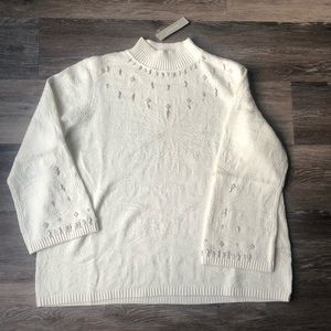 Chico's Embellished Mock Pullover Sweater